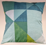 "Cushion Cover in Next Teal Geo 16"" Matches Curtains"